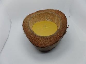 Ekologiczna świeca ozdobna z wosku pszczelego w kokosie