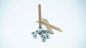 Knot drewniany do wosku stopki gratis 10 szt 8 cm