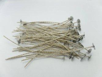 Knoty bawełniane z blaszkami knoty 15 cm 50 szt.