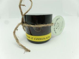 Świeca w słoiku z wosku pszczelego kawa z czekoladą 60 ml