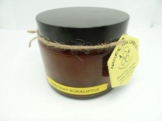 Świeca w słoiku z wosku pszczelego miętowy las eukaliptusowy 500 ml