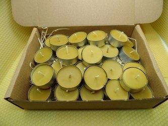 Zestaw tealight podgrzewacze z wosku pszczelego 30 szt.