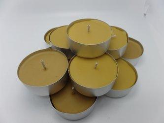 tealight z wosku pszczelego duży