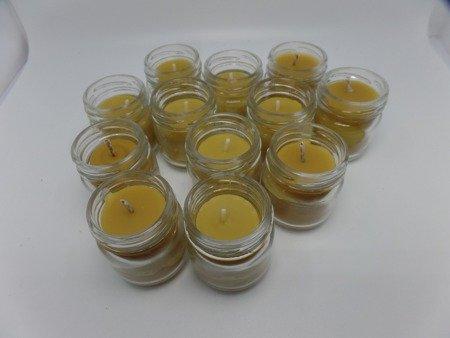 Ekologiczna świeca 10 szt. w słoiku z wosku pszczelego