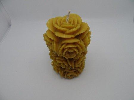 Ekologiczna trójwymiarowa duża świeca z wosku pszczelego  w kształcie pączków kwiata