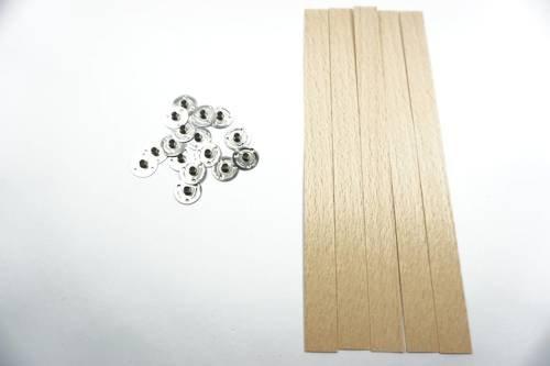 Knot drewniany do wosku stopki gratis 20 szt 20 cm