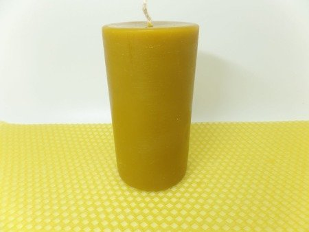 Naturalna świeca z wosku pszczelego słupek 5 szt.