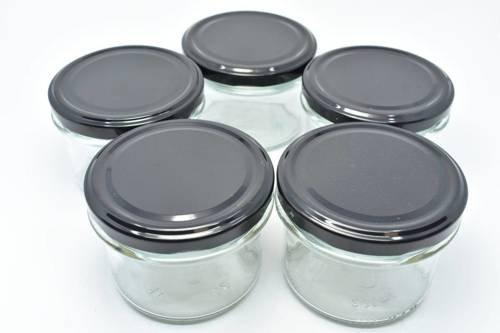Słoik przezroczysty do świec zakręcany 235 ml 5 szt.