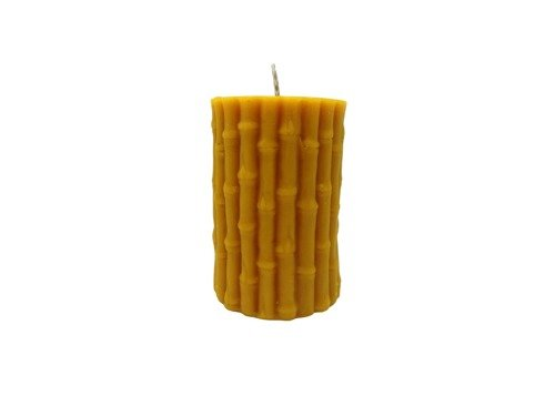 Świeca bambus z wosku pszczelego