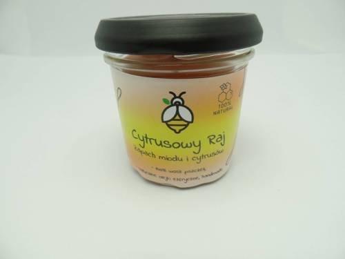 Świeca w słoiku z wosku pszczelego cytrusowy raj 120 ml