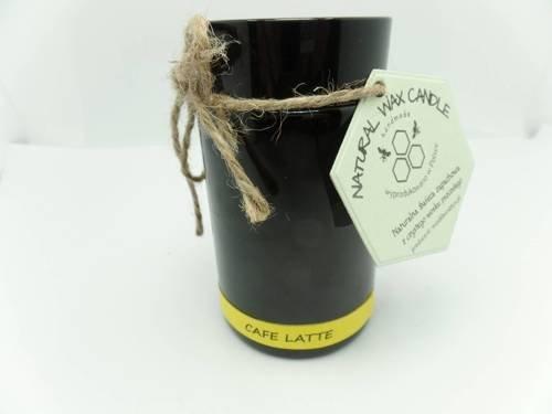 Świeca w słoiku z wosku sojowego cafe late 200 ml