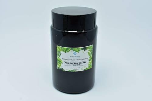 Świeca w słoiku z wosku sojowego pina colada 240ml