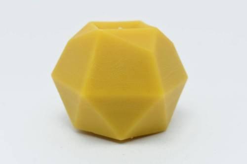 Świeca z wosku pszczelego geometryczny kryształ