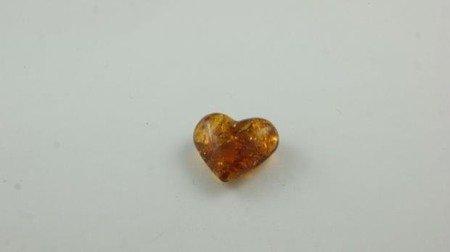 bursztyn bałtycki serce łuskowany inkluzje koniak 3,0 g