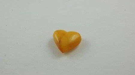 bursztyn bałtycki serce spękany żółty naturalny 2,8 g