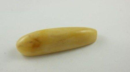 bursztyn kolumbijski polerowany walec żółty natura 29,5 g